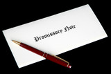Promissory note or loan document poster
