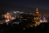 Central Edinburgh, Scotland, UK, at nightfall - Fine Art prints