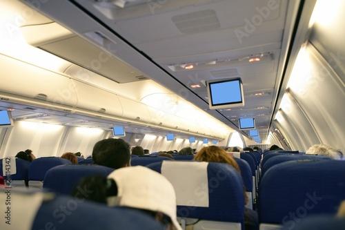 飞机超级经济舱 飞机经济舱座位 长途飞机经济舱图片