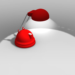 lampara de escritorio roja