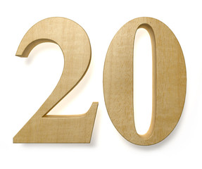 20 wooden celebration anniversary birthday