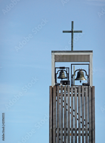 Contemporary church bell tower