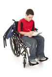 Disabled School Boy poster