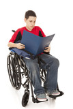 Disabled Student Reading poster