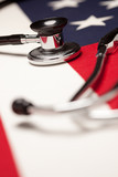 Stethoscope on American Flag