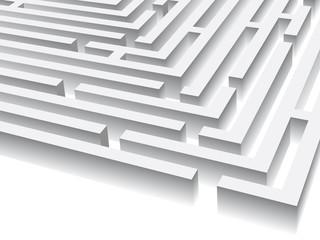 white maze - entrance
