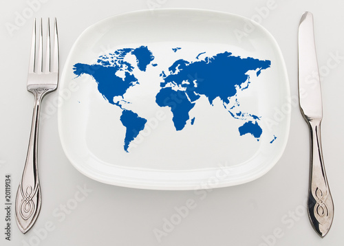 World on plate