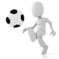 3d man soccer in action