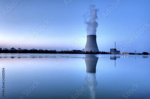 Leinwanddruck Bild Kernkraftwerk