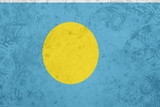 Flag of Palau grunge texture poster
