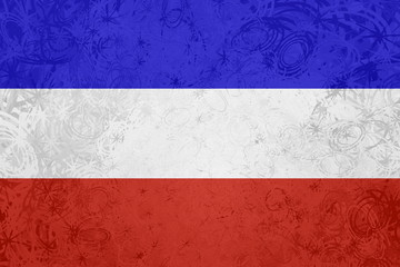 Flag of Serbia and Montenegro grunge texture