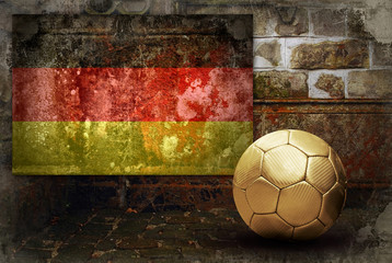 Grunge flag of Germany and ball