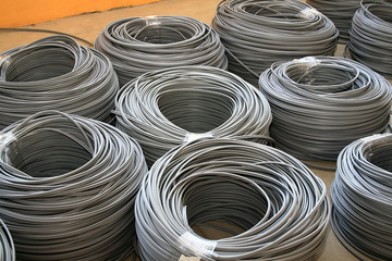gray industrial cables