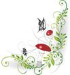 Blumen, Ranke, filigran, floral, Fliegenpilze, Märchen