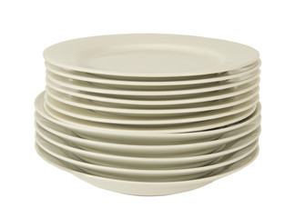 pile of white plates