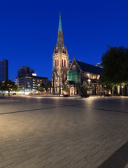 Cathedral Square at Dusk