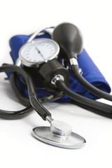 momanometr and stethoscope