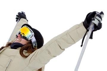 Woman with ski googles