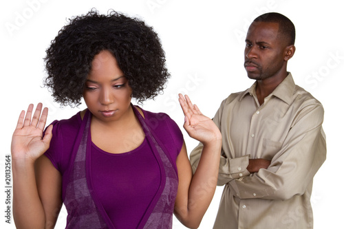 Angry African American Couple