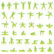 Pictograms which represent yoga exercise