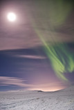 Aurora at the moon