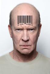 Bar coded man