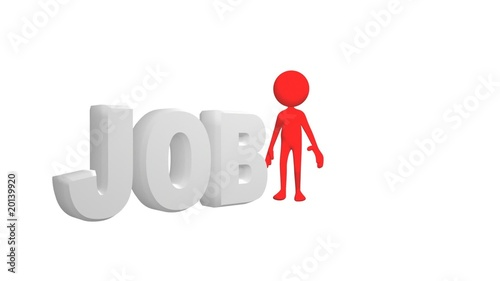 3D man showing the concept of job