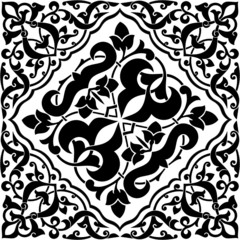 Arabesque Tile Black and White 2