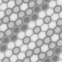 Grey hexagon tiles. Seamless vector pattern
