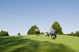 Golfspieler auf dem Fairway poster