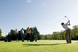 Golfer auf dem Fairway poster