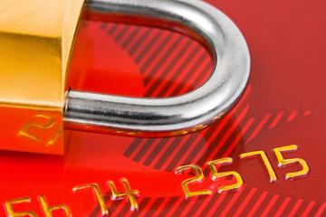 Lock and credit card