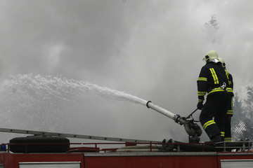firefighter fire emergency danger fireman