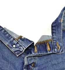 Pantaloni in tela di jeans