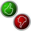 grüner Ja und roter NEIN Button