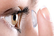 Leinwandbild Motiv contact lens