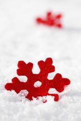 Schneeflockendekoration