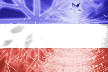 Flag of Serbia and Montenegro christmas holidays