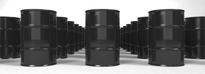 Oil Barrels background - 3d