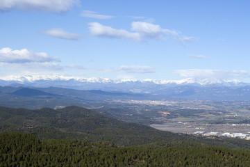 vista general pirineo catalan