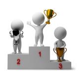 Fototapety 3d small people - rewarding of winners