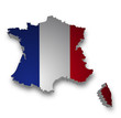 Frankreich 3D Flagge