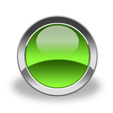 empty icon & button; green and glass