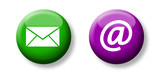 e-mail icons & buttons