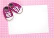 Fototapete Babyparty - Schuh - Hintergrund