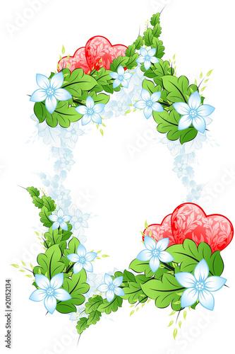 Floral Valentines framing