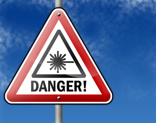 "Traffic Sign ""Danger/Laser"""