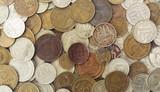 Grunge USSR coins pattern