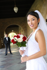 Beautiful Bride at  Wedding