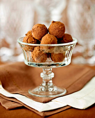 delicious chocolate truffles